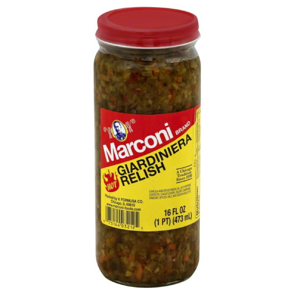 Marconi Hot Giardiniera Relish, 16 Oz (Pack of 6)