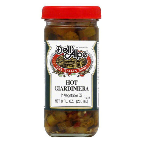 Dell' Alpe Hot Giardiniera, 8 OZ (Pack of 12)
