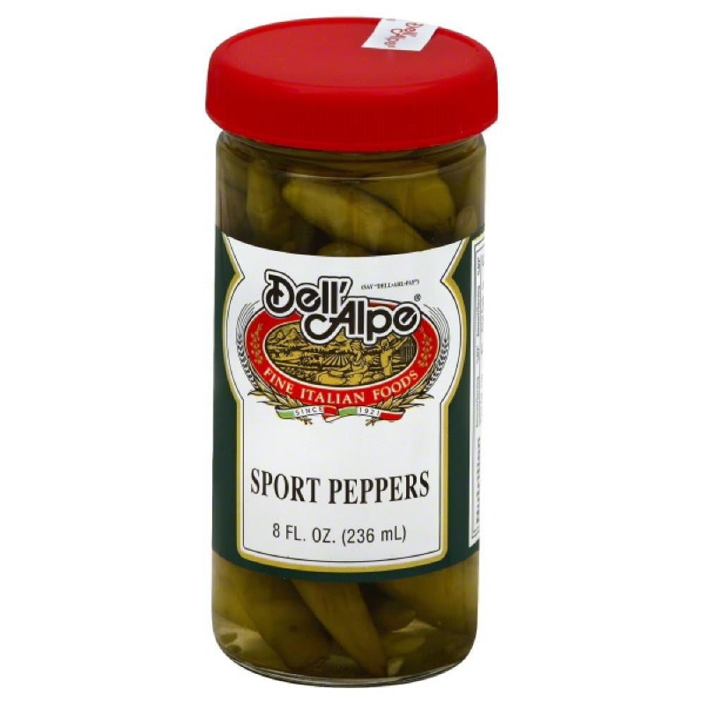 Dell Alpe Sport Peppers, 8 Oz (Pack of 12)