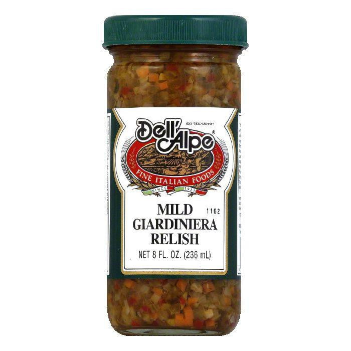 Dell' Alpe Mild Giardiniera Relish, 8 OZ (Pack of 12)