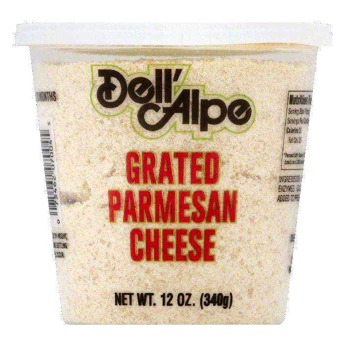 Dell Alpe Parmesan Grated Cheese, 12 OZ (Pack of 6)
