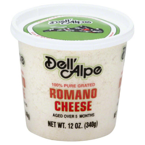 Dell Alpe Romano Cheese, 12 Oz (Pack of 6)