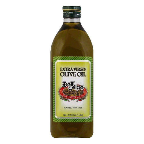 Dell' Alpe Ital Extra Virgin Olive Oil, 33.8 OZ (Pack of 6)