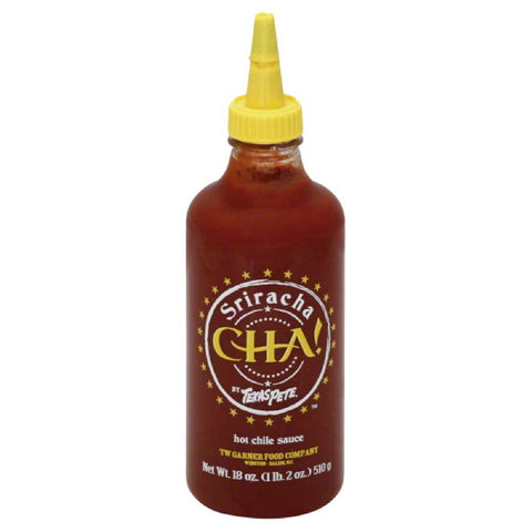Cha Sriracha Hot Chile Sauce, 18 Oz (Pack of 12)