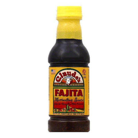 Claudes Fajita Marinating Sauce, 16 OZ (Pack of 6)
