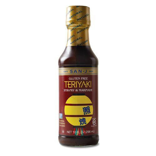 San J Sauce Teriyaki, 10 OZ (Pack of 6)