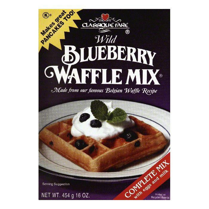 Classique Fare Wild Blueberry Waffle Mix, 16 OZ (Pack of 6)