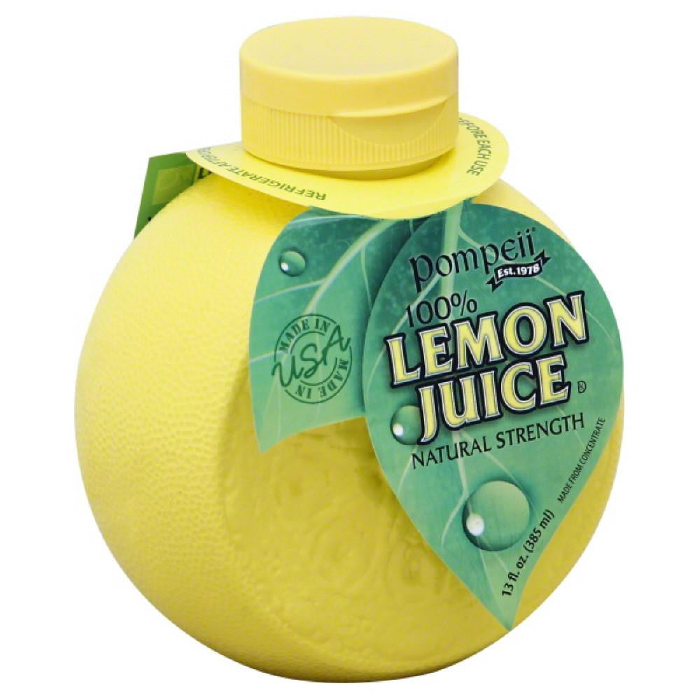 Pompeii 100% Lemon Juice, 13 Oz (Pack of 12)
