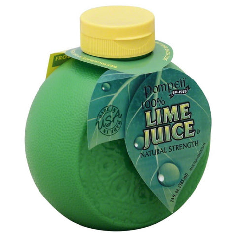 Pompeii 100% Lime Juice, 13 Oz (Pack of 12)