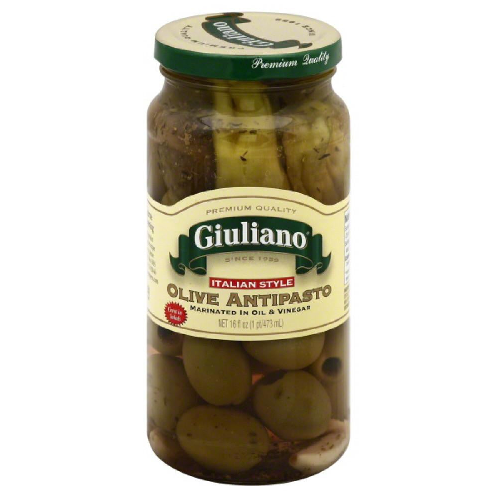 Giuliano Italian Style Olive Antipasto, 16 Oz (Pack of 6)