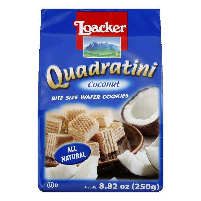 Loacker Coconut Quadratini Wafer, 8.82 OZ (Pack of 6)