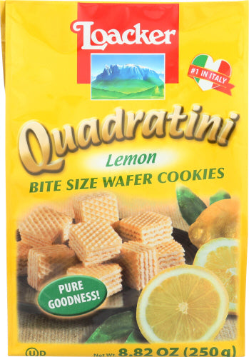Loacker Lemon Quadratini Wafer, 8.82 OZ (Pack of 6)