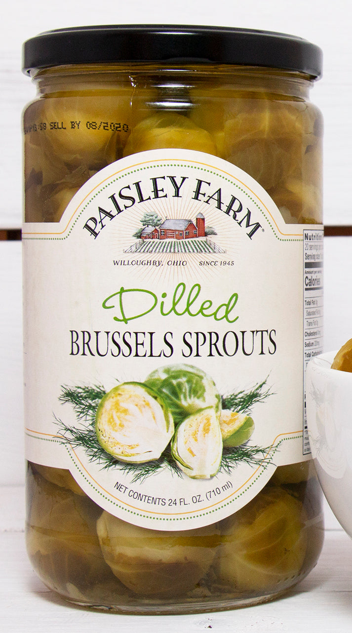 Paisley Farm Dilled Brussel Sprouts, 24 OZ (Pack of 6)