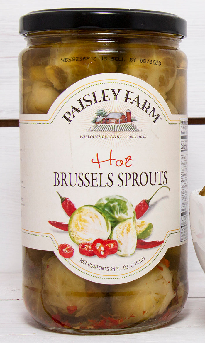 Paisley Farm Hot Brussel Sprouts, 24 OZ (Pack of 6)