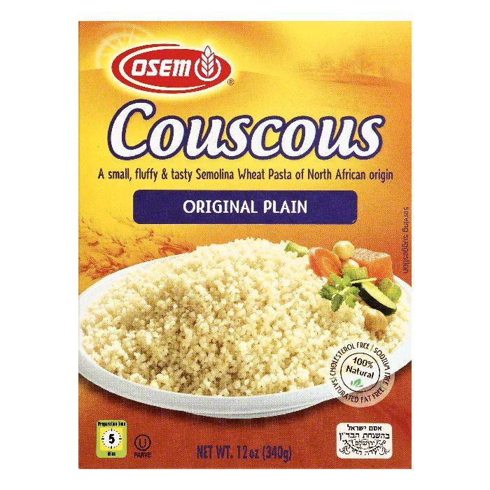 Osem Original Plain Couscous, 12 OZ (Pack of 12)