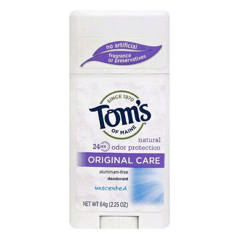 Toms of Maine Unscented Original Care Deodorant, 2.25 OZ (Pack of 1)