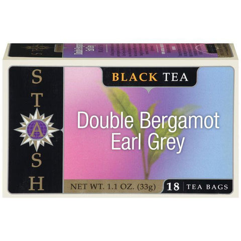 STASH Double Bergamot Earl Grey Black Tea Bags 18 CT (Pack of 6)