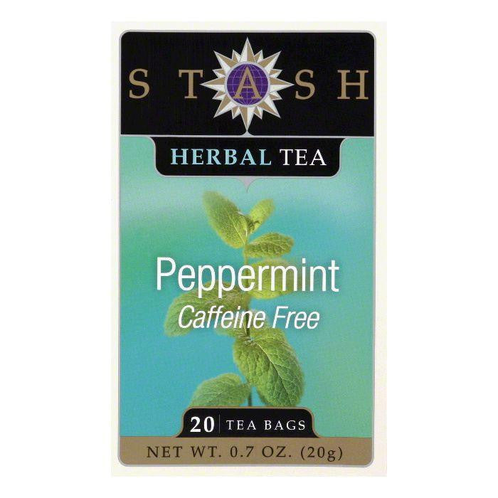 Stash Tea Stash Caffeine Free Herb Peppermint, 20 BG (Pack of 6)