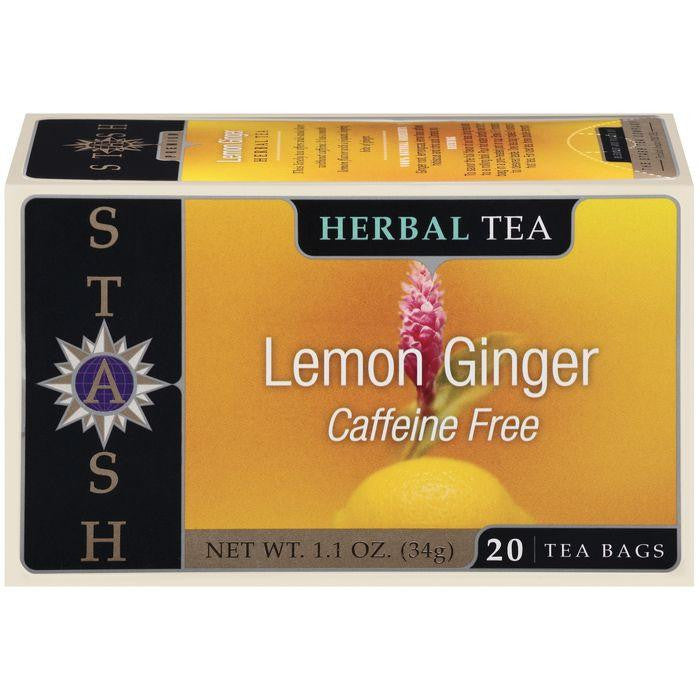 Stash Lemon Ginger Caffeine Free Herbal Tea Bags 20 Ct (Pack of 6)