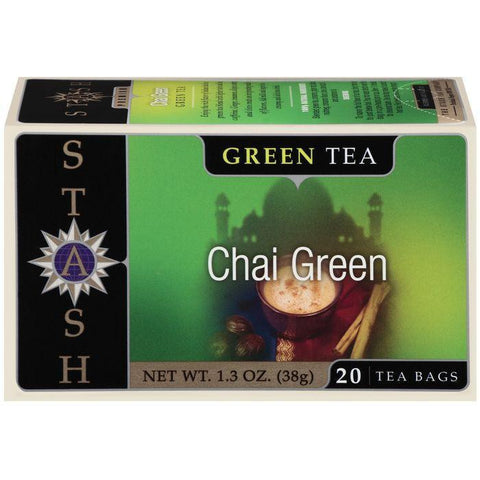Stash Chai Green Tea Bags 20 Ct (Pack of 6)
