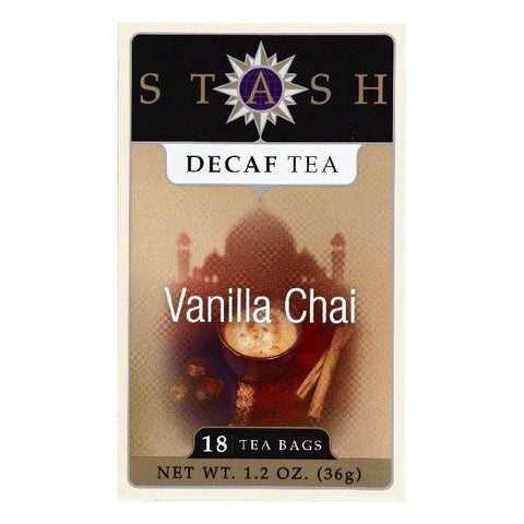 Stash Bags Decaf Vanilla Chai Tea, 18 ea (Pack of 6)
