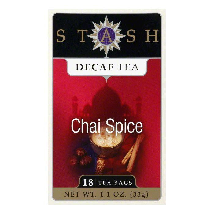 Stash Tea Stash Decaf Chai Spice, 18 BG (Pack of 6)