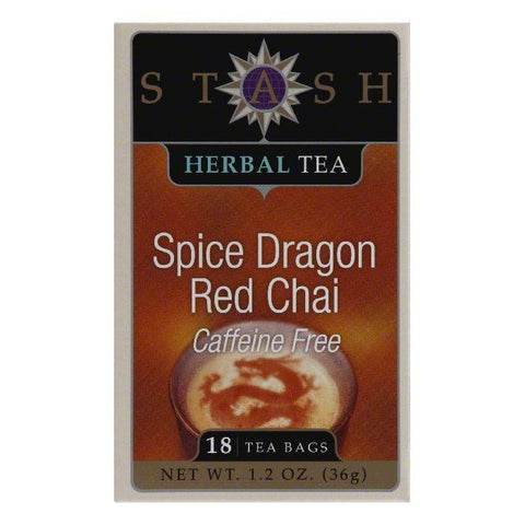 Stash Tea Tea Decaf Chai Red Spice, 18 BG (Pack of 6)
