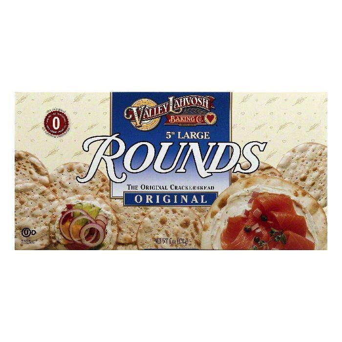 Valley Lahvosh 5 Inch Large Rounds Original Crackerbread, 6 OZ (Pack of 12)
