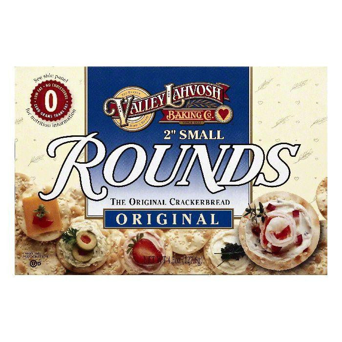 Valley Lahvosh 2 Inch Small Rounds Original Crackerbread, 4.5 OZ (Pack of 12)