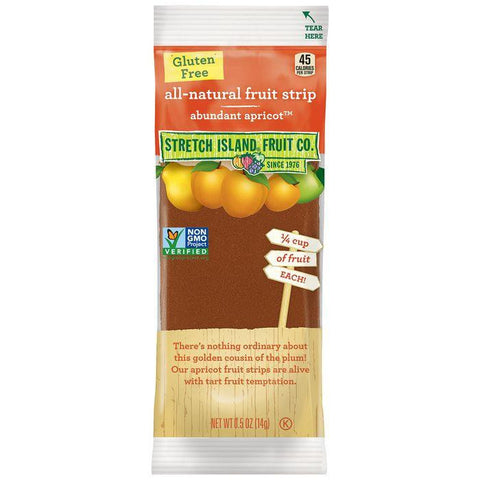 Stretch Island Fruit Co. Abundant Apricot All-Natural Fruit Strip 0.5 Oz (Pack of 30)