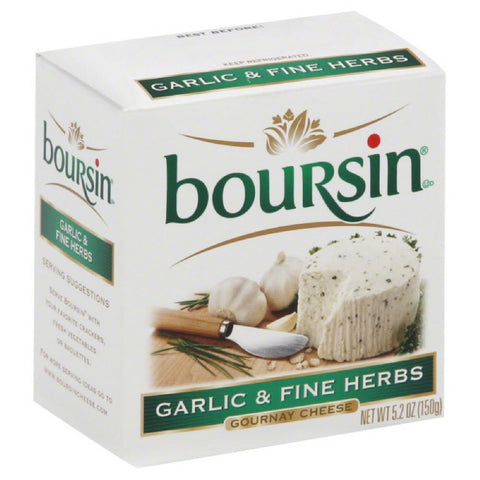 Boursin Garlic & Fine Herbs Gournay Cheese, 5 Oz (Pack of 12)