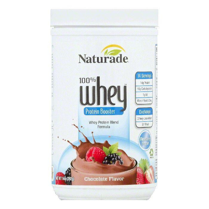 Naturade Chocolate Flavor 100% Whey Protein Booster, 14 OZ