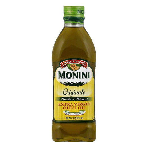 Monini Extra Virgin Olive Oil, 16.9 OZ (Pack of 12)