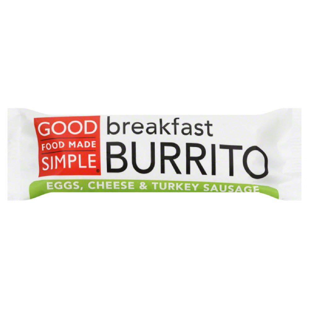 Good Food Made Simple Cheese & Turkey Sausage Eggs Breakfast Burrito, 5 Oz (Pack of 12)