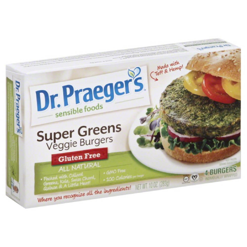 Dr Praegers Super Greens Veggie Burgers, 10 Oz (Pack of 6)