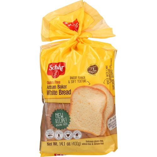 Schar Artisan Baker White Bread, 14.1 Oz (Pack of 6)