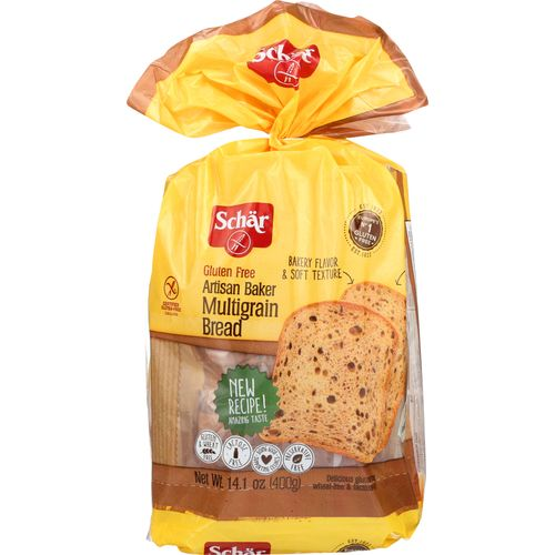 Schar Artisan Baker Multigrain Bread, 14.1 Oz (Pack of 6)