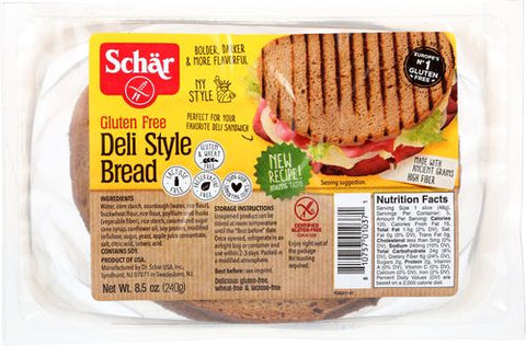 Schar Deli Style Bread, 8.5 Oz (Pack of 5)