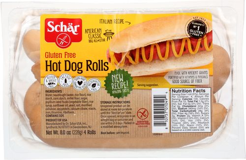 Schar Hot Dog Rolls, 8 Oz (Pack of 6)