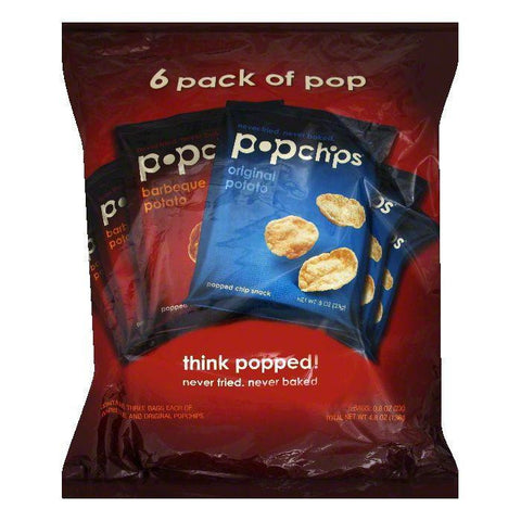 Popchips Single Serve Multi Pack Chips, 4.8 OZ (Pack of 12)