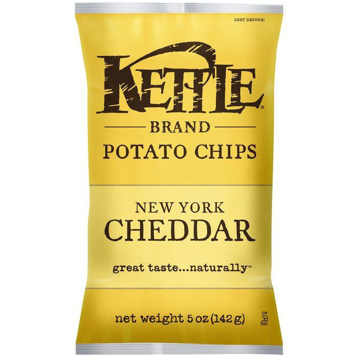 Kettle Brand New York Cheddar Potato Chips 5 Oz Bag (Pack of 15)