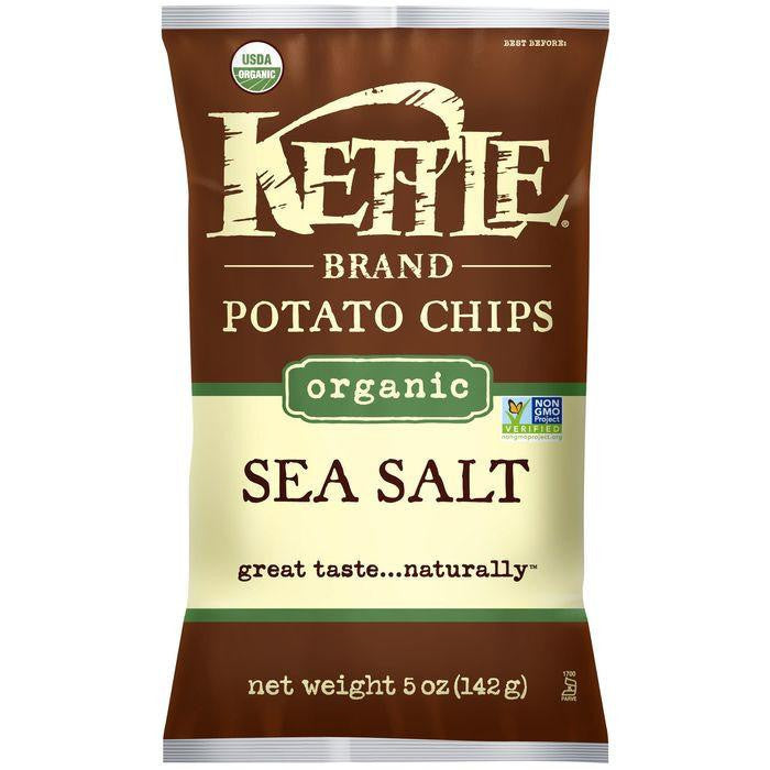 Kettle Brand Organic Sea Salt Potato Chips 5 Oz Bag (Pack of 15)