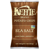 Kettle Brand Sea Salt Potato Chips 5 Oz Bag (Pack of 15)