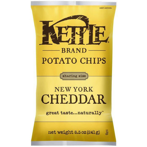 Kettle Brand New York Cheddar Potato Chips 8.5 Oz Bag (Pack of 12)