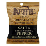 Kettle Brand Sea Salt and Pepper Potato Chips, 1.5 OZ (Pack of 24)