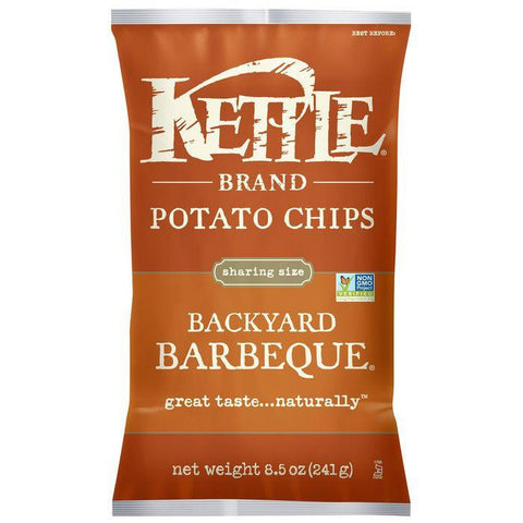 Kettle Brand Backyard Barbeque Potato Chips 8.5 Oz Bag (Pack of 12)