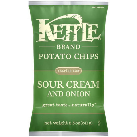Kettle Brand Sour Cream & Onion Potato Chips 8.5 Oz Bag (Pack of 12)