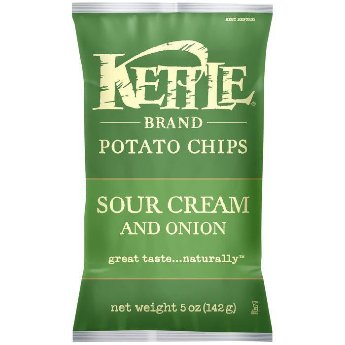 Kettle Brand Sour Cream & Onion Potato Chips 5 Oz Bag (Pack of 15)