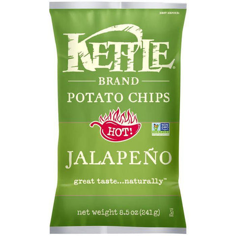 Kettle Brand Jalapeno Potato Chips 8.5 Oz Bag (Pack of 12)