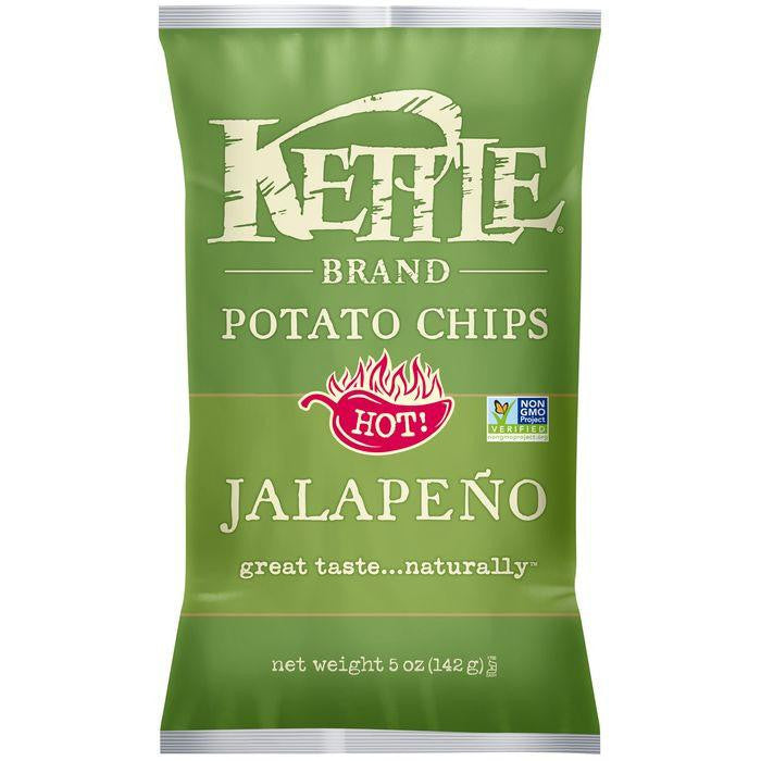 Kettle Brand Jalapeno Potato Chips 5 Oz Bag (Pack of 15)
